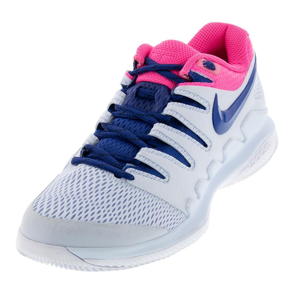 37163ea9ec Nike Women's Air Zoom Vapor X Tennis Shoes Half Blue and Indigo Force