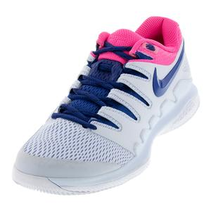 Women`s Air Zoom Vapor X Tennis Shoes Half Blue and Indigo Force