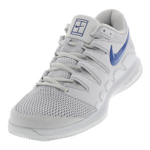 Men`s Air Zoom Vapor X Tennis Shoes Vast Gray and Indigo Force
