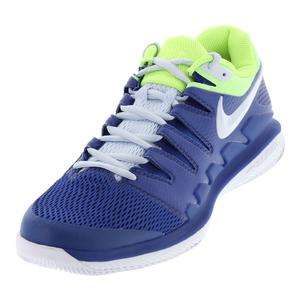 Men`s Air Zoom Vapor X Tennis Shoes Indigo Force and Half Blue