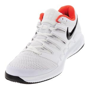 Juniors` Air Zoom Vapor X Tennis Shoes White and Bright Crimson