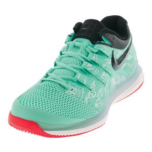 Men`s Air Zoom Vapor X Tennis Shoes Aurora Green and Teal Tint