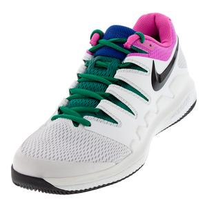 Men`s Air Zoom Vapor X Tennis Shoes White and Platinum Tint