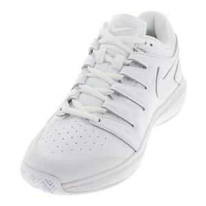 Men`s Air Zoom Prestige Leather Tennis Shoes White and Black