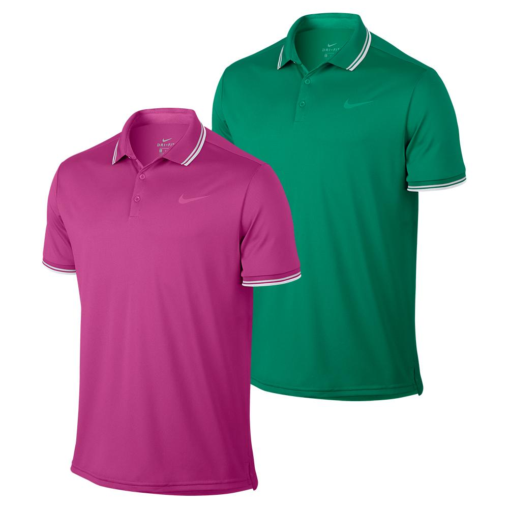 62abae15 Nike Men`s Court Solid Dry Pique Tennis Polo