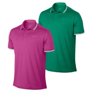 Men`s Court Solid Dry Pique Tennis Polo