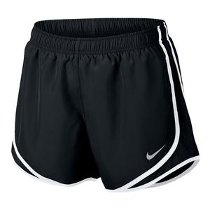 Women`s Dry Tempo Running Short Black and White
