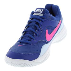 Women`s Court Lite Tennis Shoes Indigo Force and Half Blue
