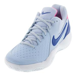 Women`s Air Zoom Resistance Tennis Shoes Half Blue and Indigo Force