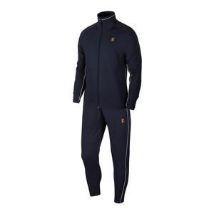 Men`s Court Essential Tennis Warm Up Set Obsidian and White