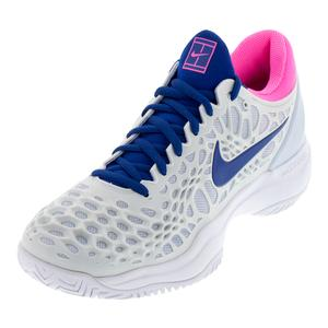Women`s Zoom Cage 3 Tennis Shoes Half Blue and Indigo Force