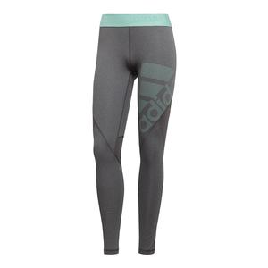 Women`s Alphaskin Long Tight Dark Gray Heather and Clear Mint