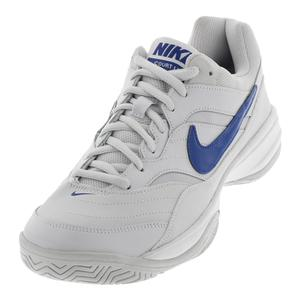 Men`s Court Lite Wide Tennis Shoes Vast Gray and Indigo Force