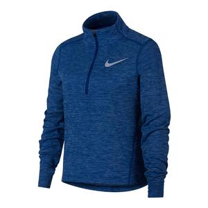 Girls` Half Zip Long Sleeve Running Top Indigo Force