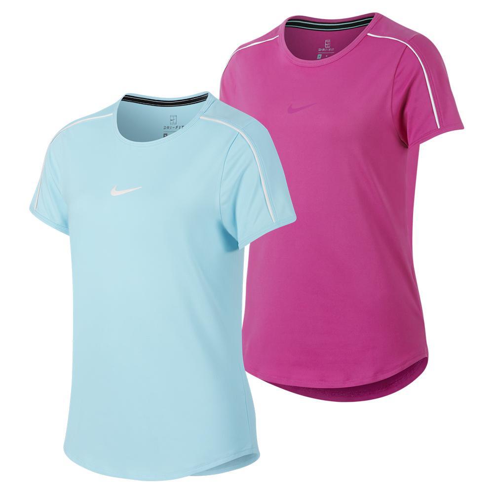 07397d6e7 Nike Girls' Court Dry Tennis Top