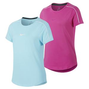 Girls` Court Dry Tennis Top