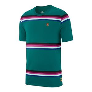 Men`s Court Heritage Stripe Tennis Top