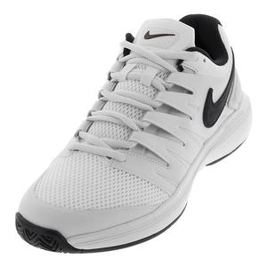 Juniors` Air Zoom Prestige Tennis Shoes White and Black
