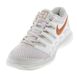 Women`s Air Zoom Vapor X Clay Tennis Shoes Phantom and Metallic Rose Gold