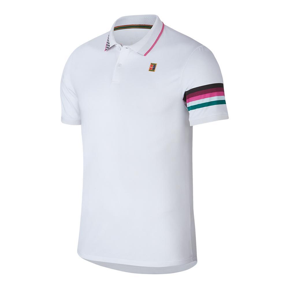 buy popular 16a11 0a9a0 ... Men`s Melbourne Night Time Court Advantage Tennis Polo 101 WHITE ...