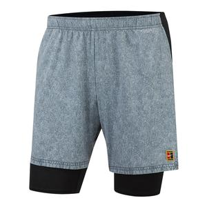 Men`s Court Dry Flex Ace Pro Tennis Short Cool Grey and Black