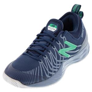 Men`s Fresh Foam Lav D Width Tennis Shoes Neutral Blue and Gray
