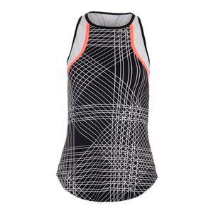 Women`s Kassandra Racerback Tennis Tank Flow Print