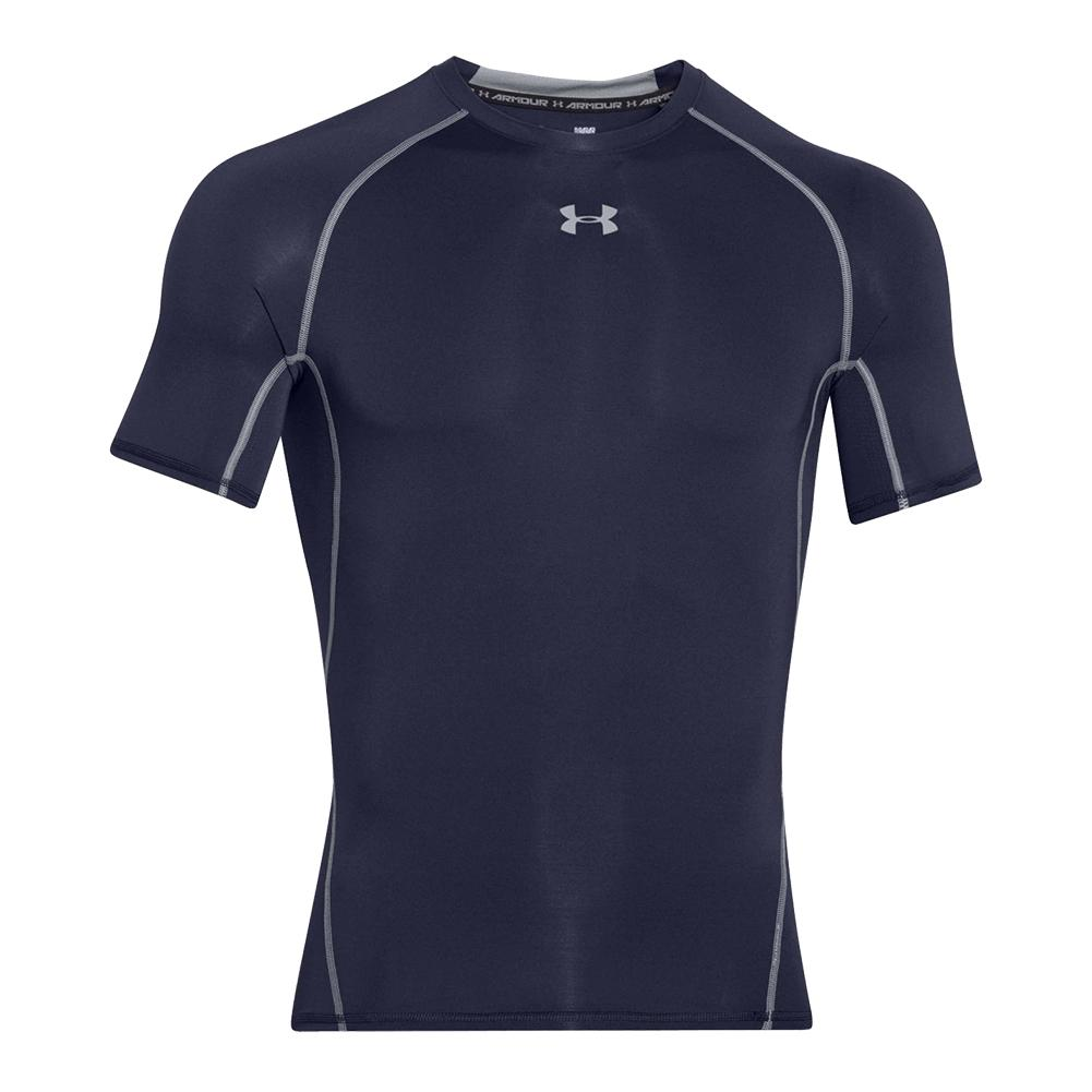 c05a4055bad Men`s UA HeatGear Armour Short Sleeve Compression Shirt 410 MIDNIGHT NAVY