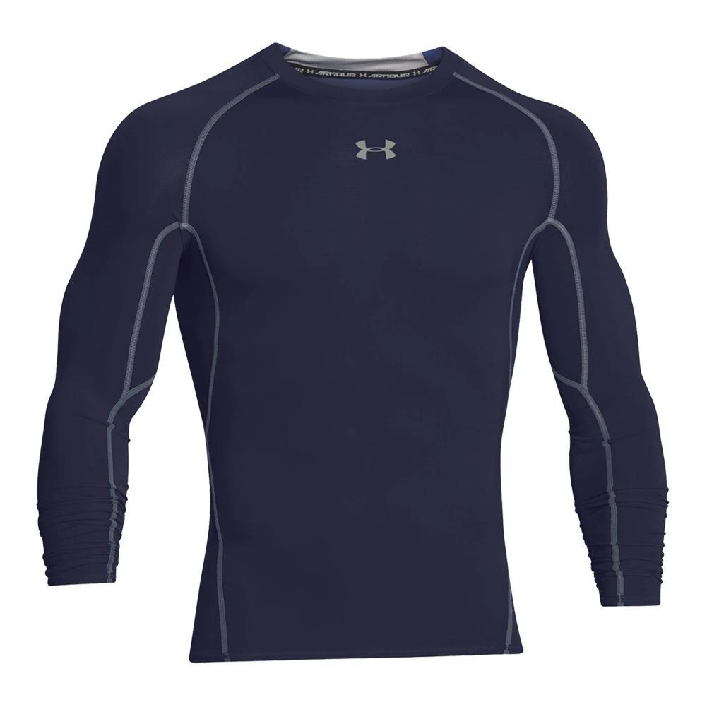 f308a150ef87e Men`s UA HeatGear Armour Long Sleeve Compression Shirt 410 MIDNIGHT NAVY
