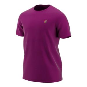 Men`s Court Heritage Tennis Top True Berry