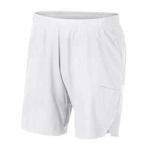 Men`s Court Flex Ace Premier 9 Inch Tennis Short White