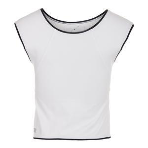 Women`s Alondra Tennis Crop Top White