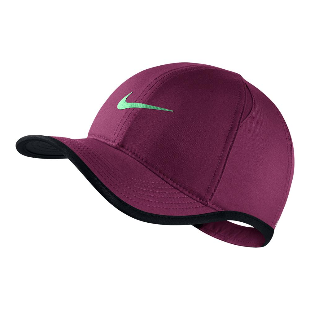 aa023dd90079 Juniors` Featherlight Adjustable Tennis Cap 609 BORDEAUX APH GRN