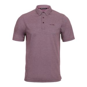 Men`s Asleep at the Wheel Tennis Polo Eggplant and Micro Chip