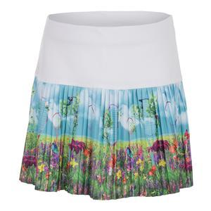 Girls` Pleated Tennis Skirt Racket Garden