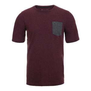 Men`s Dressdown Short Sleeve Tennis Top Winetasting and Black