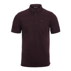 Men`s Cool Beans Tennis Polo Winetasting and Black