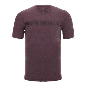 Men`s Forty Winks Short Sleeve Tennis Top Heather Winetasting