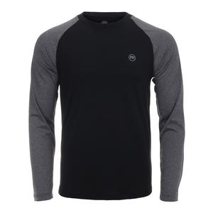 Men`s Slight Long Sleeve Tennis Top Black