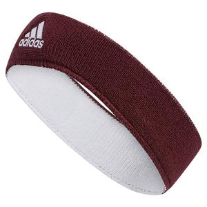 Interval Reversible Headband Maroon and White
