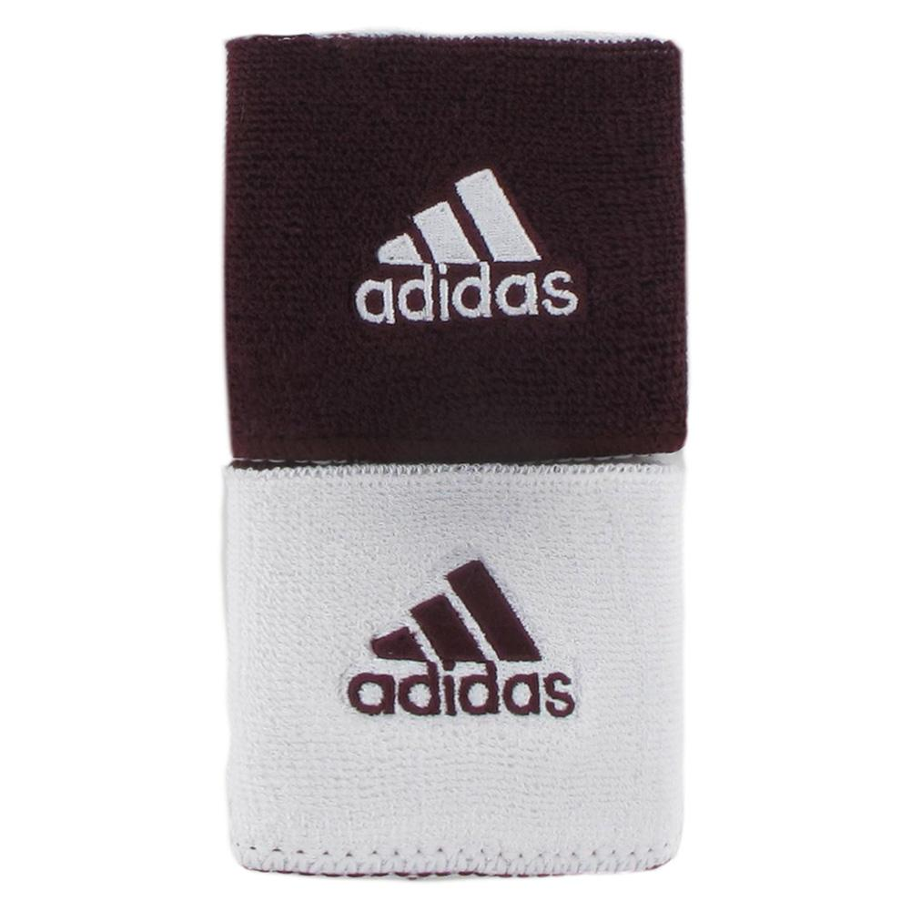 Interval Reversible Wristband Maroon And White