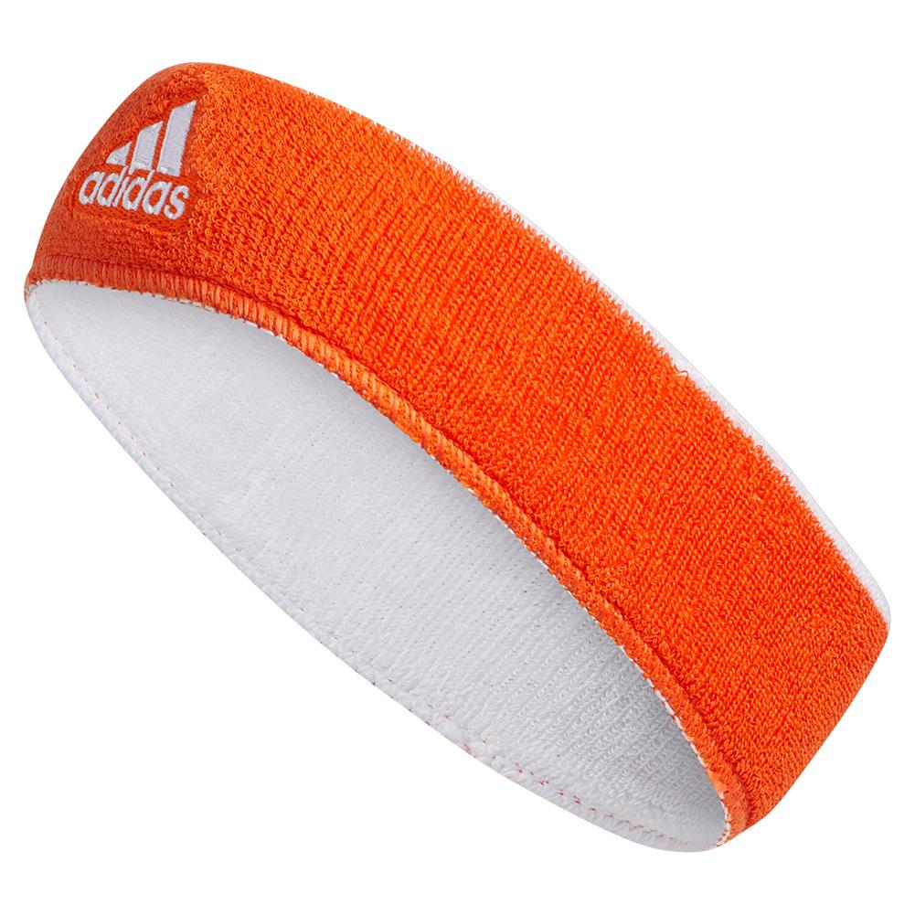 5ab0d21b4528 Adidas Interval Reversible Headband Collegiate Orange and White