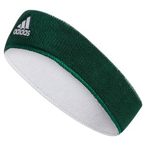 Interval Reversible Headband Dark Green and White