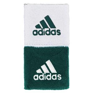 Interval Reversible Wristband Dark Green and White