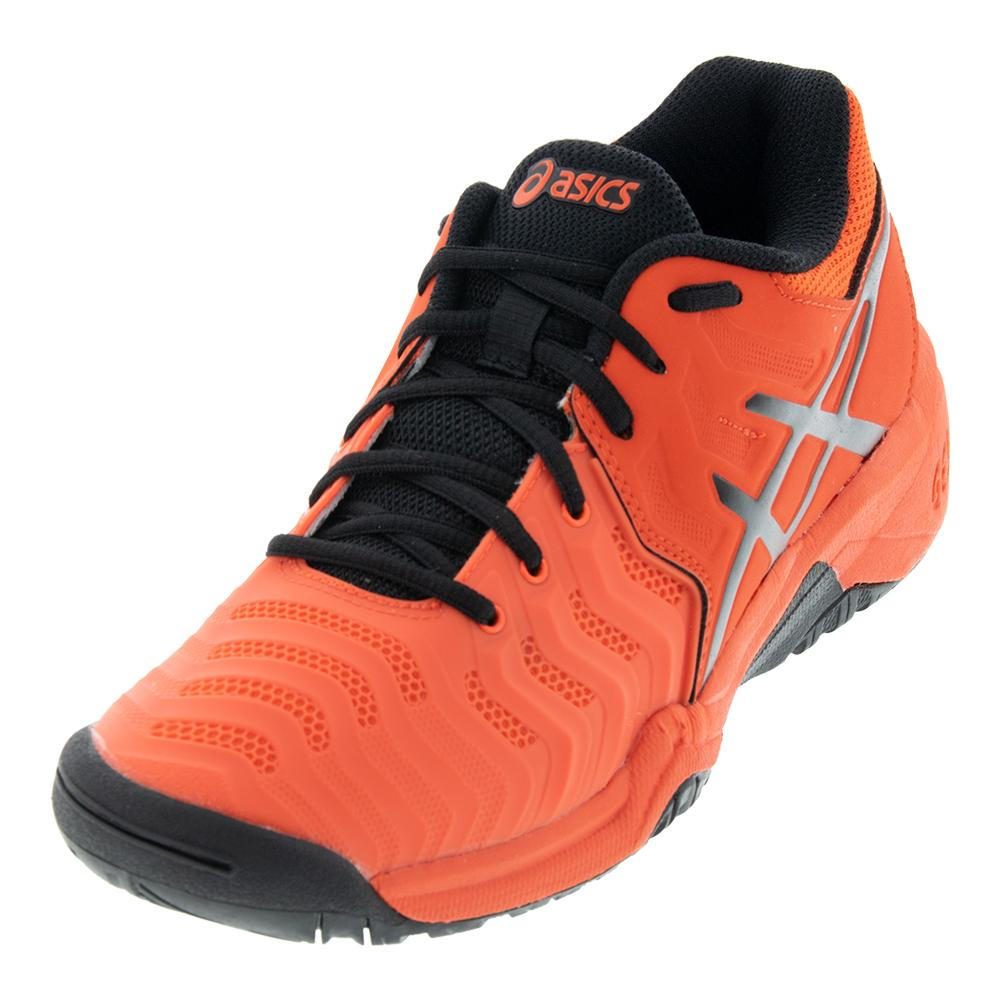 Juniors ` Gel- Resolution 7 Tennis Shoes Cherry Tomato And Black
