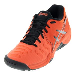 Juniors` Gel-Resolution 7 Tennis Shoes Cherry Tomato and Black