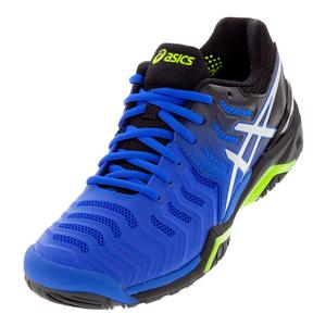 Men`s Gel-Resolution 7 Tennis Shoes Illusion Blue and Silver