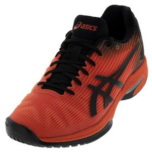 Men`s Solution Speed FF Tennis Shoes Cherry Tomato and Black