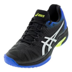 Men`s Solution Speed FF Tennis Shoes Black and Illusion Blue