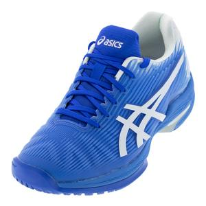 Women`s Solution Speed FF Tennis Shoes Blue Coast and White